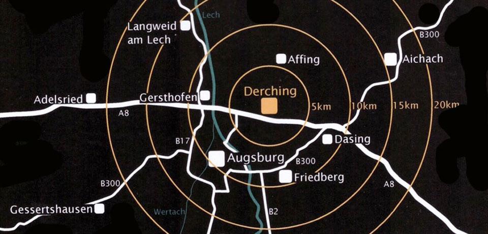 Geografische Lage Derching