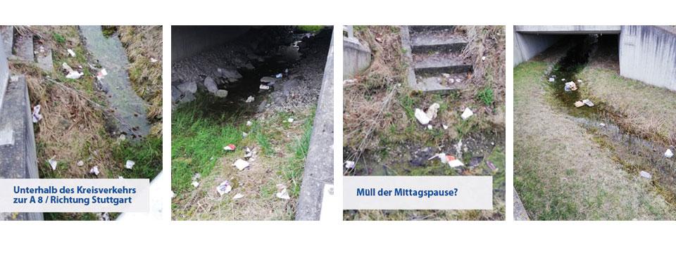 Müllsituation in Derching