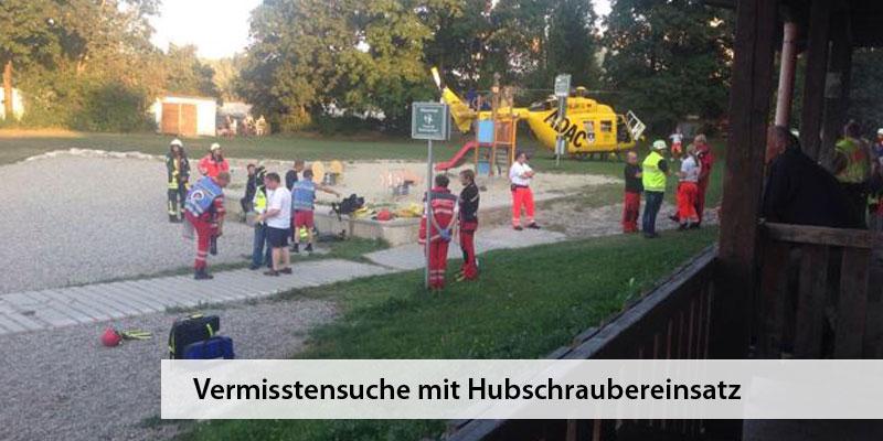 Wasserwacht Derching Vermisstensuche ADAC Hubschrauber